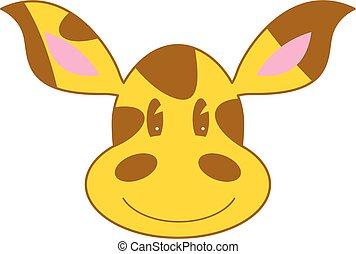 mignon, girafe, dessin animé
