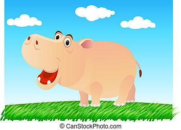 mignon, hippopotame