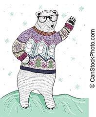 mignon, hipster, polaire