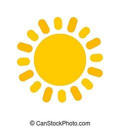 mignon, icon., soleil jaune