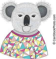 mignon, koala, hipster