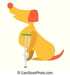 mignon, leg., vétérinaire, chien, illustration, puppy., ...
