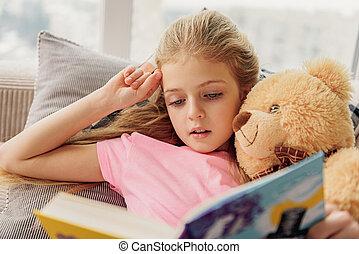 mignon, littérature, intéressé, enfant