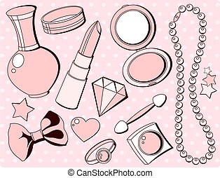 mignon, mode, accessoires