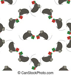 mignon, mouse., suitable, chinois, fête, modèle, symbole, gifts., emballage, seamless, ou, arrière-plan., rat, year., fond, année, nouveau, souris, s, paper., échange