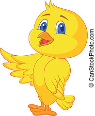 mignon, oiseau, onduler