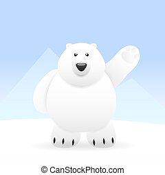mignon, ours, polaire
