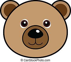 mignon, ours, vecteur