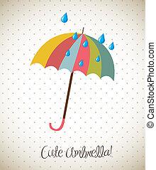 mignon, parapluie