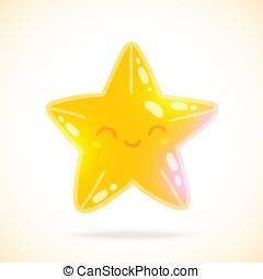 mignon, peu, image, star., vecteur, dessin animé