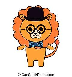 mignon, peu, lion, caractère