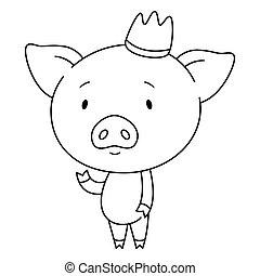 mignon, porcin, crown.