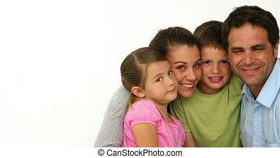 mignon, portrait famille