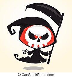 mignon, reaper, dessin animé, sinistre