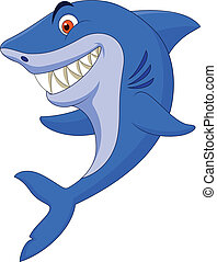 mignon, requin, dessin animé