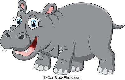 mignon, rigolote, hippopotame