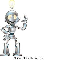 mignon, robot, illustration
