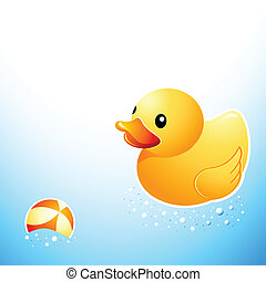 mignon, salle bains, canard