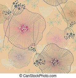 mignon, seamless, modèle floral