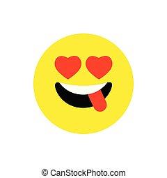 Mignon Type Caractere Jaune Emoji Realiste Vecteur
