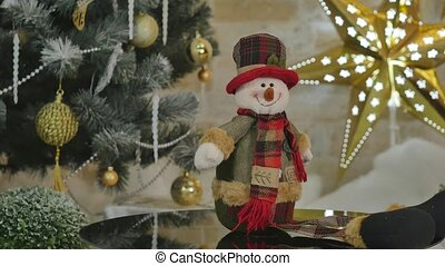 mignon, snowmen, arbre noël