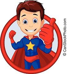 mignon, superhero, poser