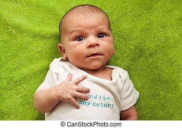 mignon, type caractère drôle, nouveau né, expres, bébé