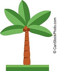mignon, vecteur, arbre, dessin animé, illustration