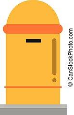 mignon, vecteur, dessin animé, illustration, boîte lettres