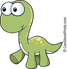 mignon, vecteur, dinosaure