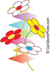 mignon, vecteur, fleur