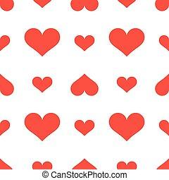 mignon, vecteur, fond, cœurs