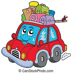 mignon, voiture, bagages