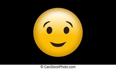 migoczący, smiley