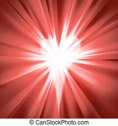 migotać, czerwone serce