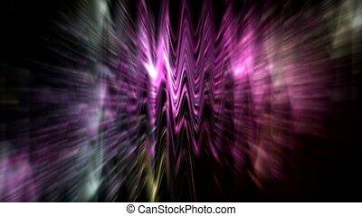 migotać, waveform, neonowe światło