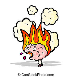 migraine brain cartoon