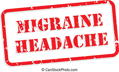 Migraine Headache Rubber Stamp - Migraine headache red...