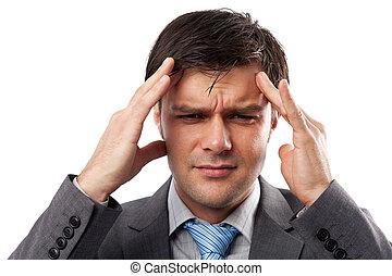 migraine, jeune homme