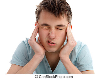 Migraine Severe Headache - A person suffering from a...