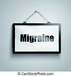 migraine text sign
