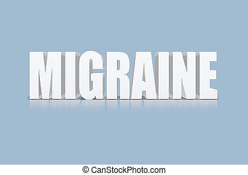 migraine, texte