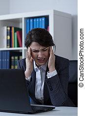 migraine, travail