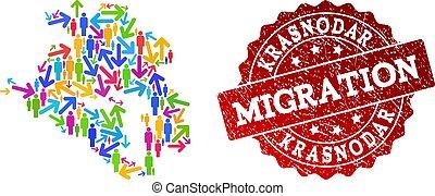 Migration Composition of Mosaic Map of Krasnodarskiy Kray ...