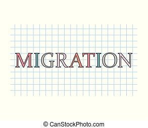 migration concept- vector illustration