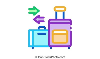 migration emigration baggage icon outline illustratio