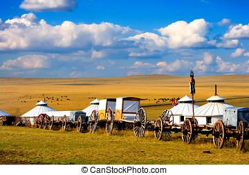 Migration Transport - Migration transport in Inner Mongolia,...
