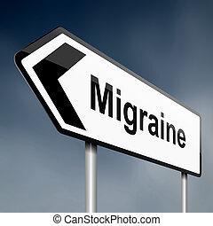 migrena, concept.