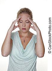 migrena, kobieta