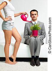 mij, water plant, laten, jouw
